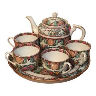 Rose Medallion Tea Set - Set of 7