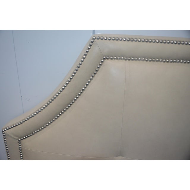 Stickley Leather Queen Headboard - Image 3 of 8