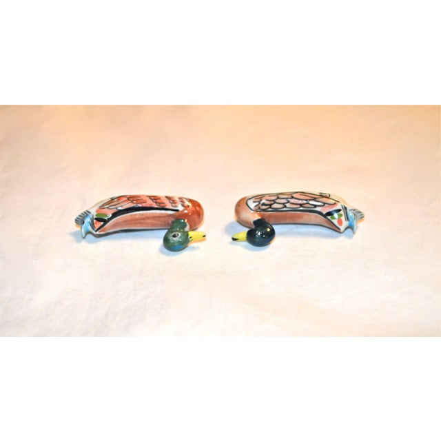 Ceramic Porcelain Duck Knife Rests - A Pair For Sale - Image 7 of 8