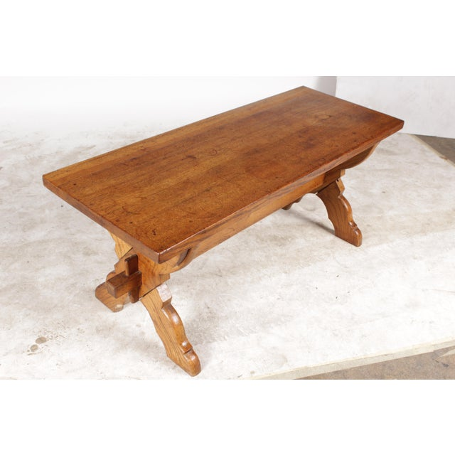 Belgian X-Leg Belgian Coffee Table For Sale - Image 3 of 6