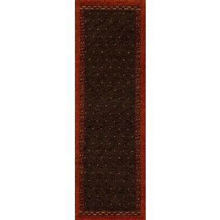 Momeni Desert Gabbeh Hand-Knotted Wool Runner Rug - 2′6″ × 8′ For Sale