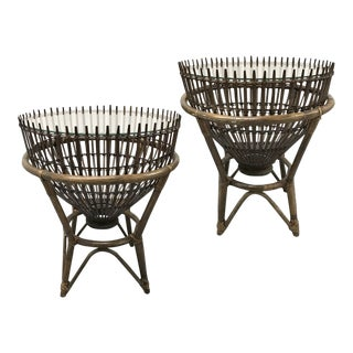 Vintage Franco Albini Style Fish Trap Tables — a Pair For Sale