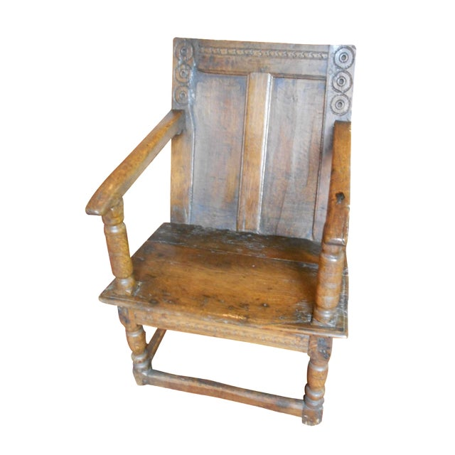 Antique English Tudor/Stuart Oak Chair - Image 1 of 6
