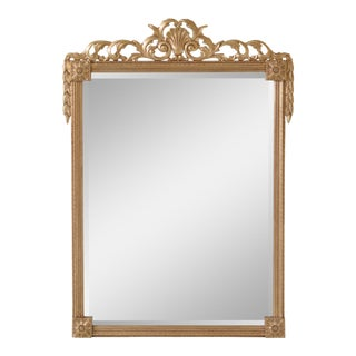 Friedman Brothers Large Gold Beveled Mirror For Sale