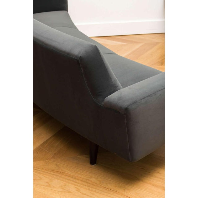 Gray Illum Wikelso Curved Danish Sofa For Sale - Image 8 of 9
