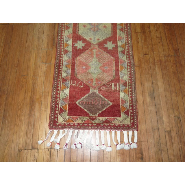 Vintage Anatolian Geometric Runner - 2'9'' x 14' For Sale - Image 5 of 8