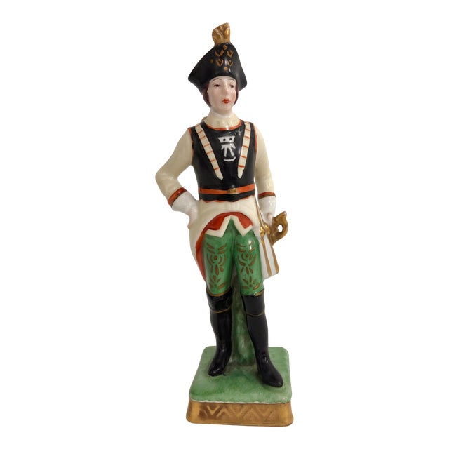 Capodimonte Porcelain Statue of a French Imperial Soldier For Sale