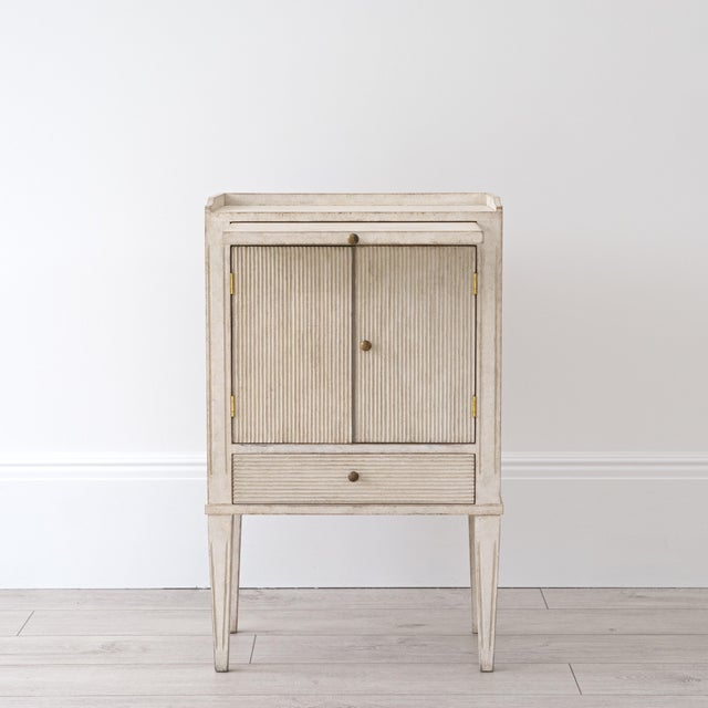Paint Pair of Lotta Gustavian Style Nightstands For Sale - Image 7 of 13