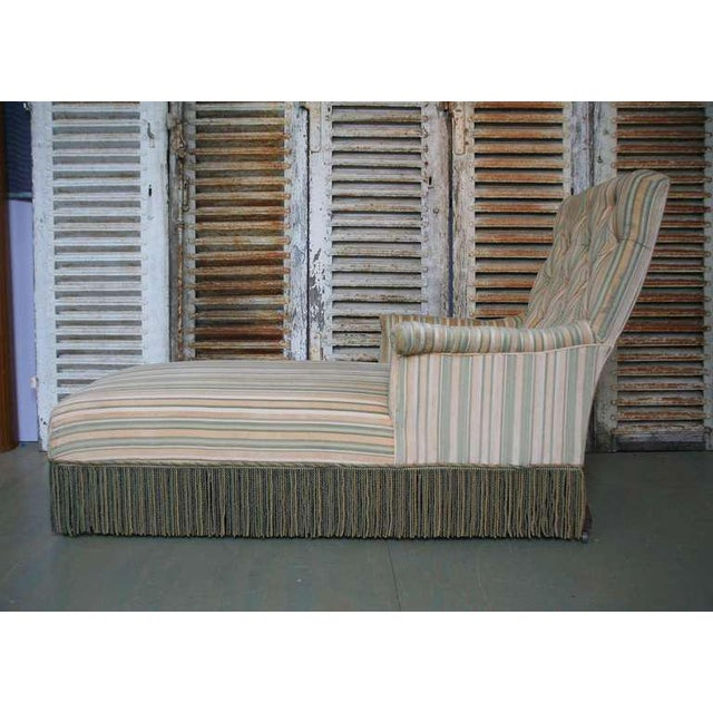 French 19th C. Napoleon III Chaise Lounge in Striped Fabric - Image 2 of 11