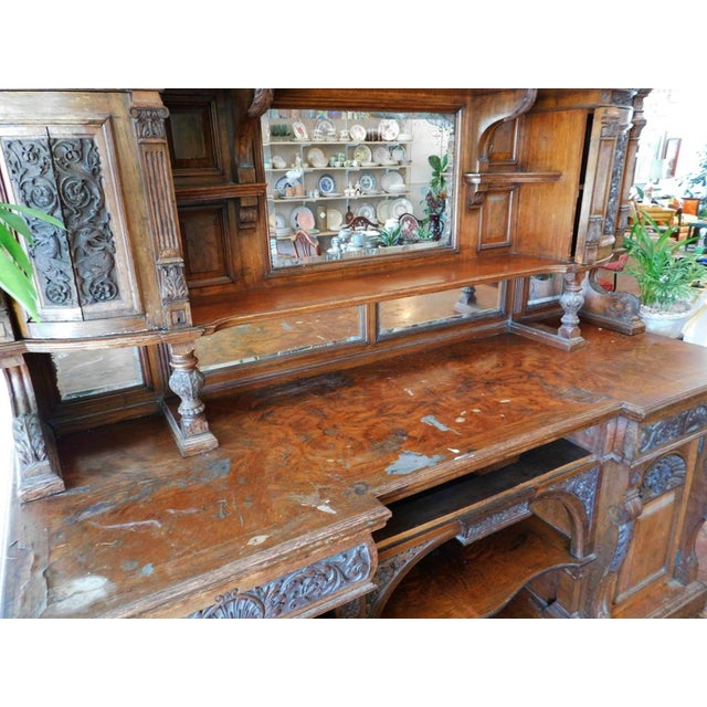 Brown Early 20th Antique European Hutch For Sale - Image 8 of 10