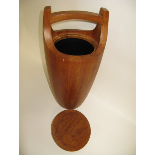 """Wood Dansk Staved Teak """"Congo"""" Ice Bucket by Jens Quistgaard For Sale - Image 7 of 11"""