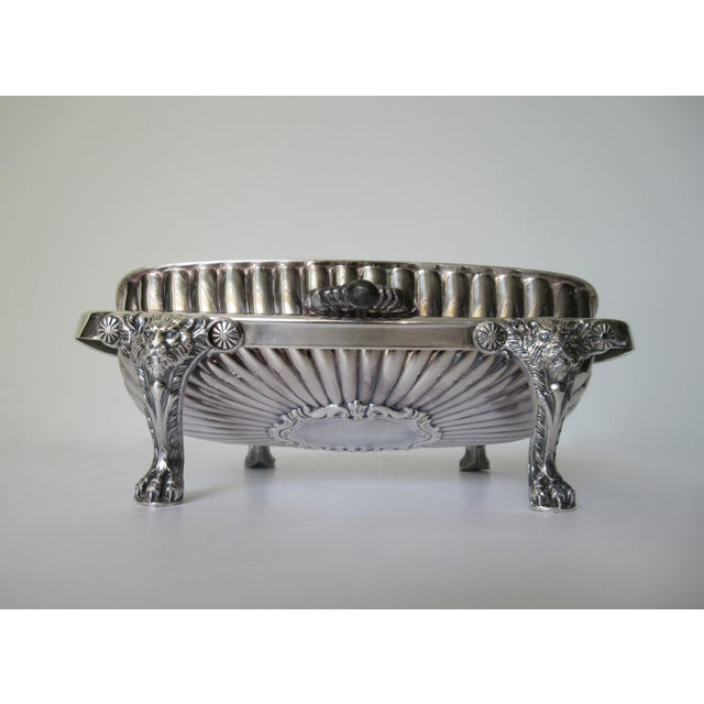 Wm. Rogers Silver Plate Platform Claw Footed Domed Butter Dish -2 Pieces For Sale In West Palm - Image 6 of 13
