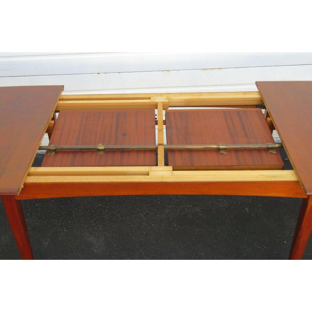 Falster, Denmark Danish Modern Butterfly Leaf Dining Table Made by Falster For Sale - Image 4 of 11