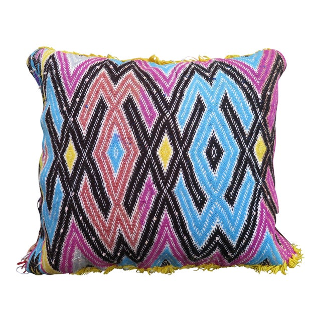Cotton Candy' Moroccan Berber Wool Pillow For Sale