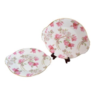 Aynsley English Rose Platters - a Pair For Sale