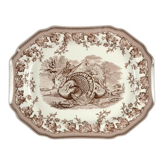 "Contemporary Spode Westbourne 19"" Oval Turkey Serving Platter For Sale"
