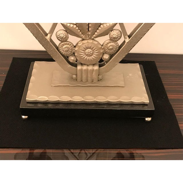 """Early 20th Century French Art Deco """"Waterfall"""" Table Lamp Signed by Sabino For Sale - Image 5 of 13"""