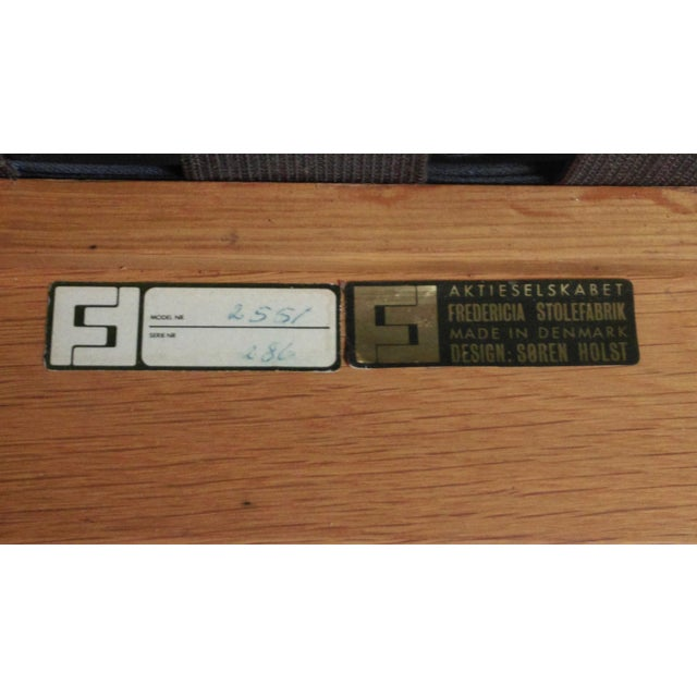 1980s Frederecia Furniture Soren Holst Danish Oak Lounge/Easy Chair For Sale - Image 9 of 10
