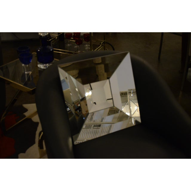 Mid Century Modern Italian Beveled Op Art Mirror - Image 4 of 11