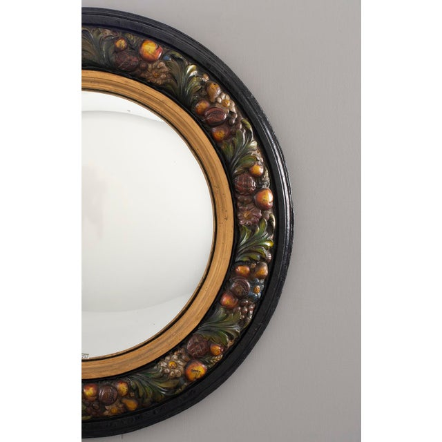 French Large Round French Barbola Mirror For Sale - Image 3 of 10