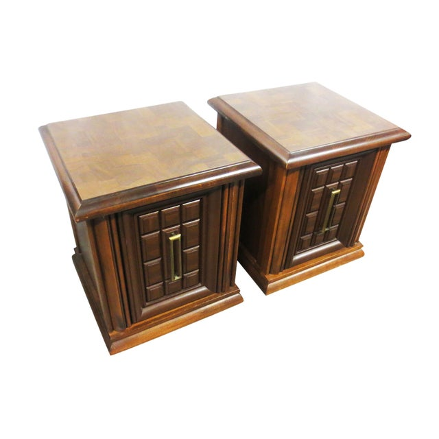 Mersman Side Tables or Nightstands - A Pair - Image 1 of 9