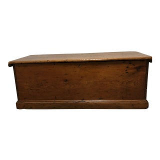 Antique Dovetail Blanket Chest/Coffee Table For Sale