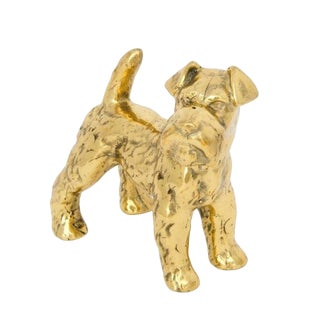 Brass Dog Sculpture For Sale
