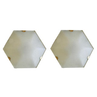 Hexagonal Stilnovo Sconces - A Pair For Sale