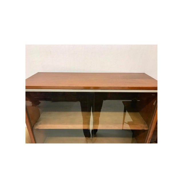 Mid-Century Modern Mid-Century Modern Herman Miller George Nelson Two Part Glass Bookcase Cabinet For Sale - Image 3 of 7