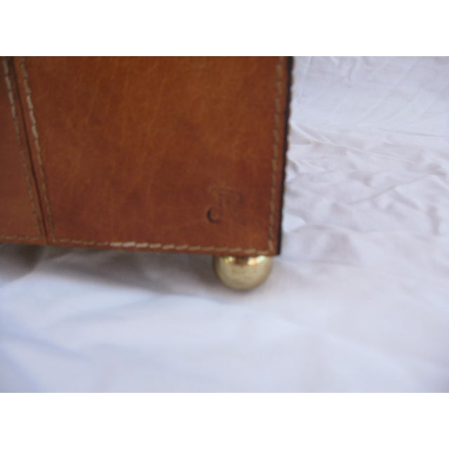Jean Royere Attributed Leather Patch Lamp - Image 8 of 8