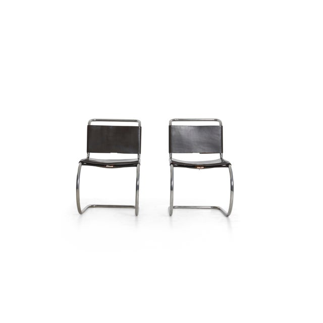 1960s Mies Van Der Rohe Mr Chairs Set of 4 For Sale - Image 5 of 8
