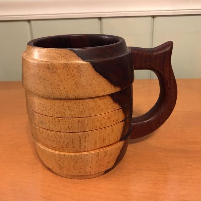 Carved Wood Stein Mug For Sale - Image 9 of 11