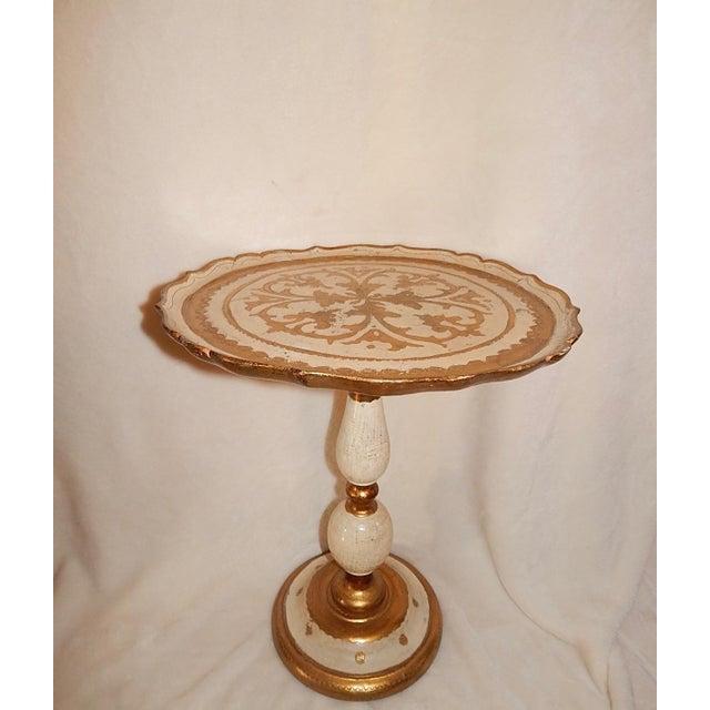 Italian Gold Gilt Wood Florentine Round Pedestal Side Table - Image 2 of 10