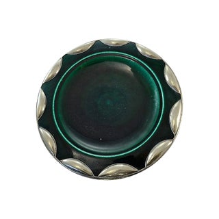 Silver & Emerald Moroccan Bowl For Sale