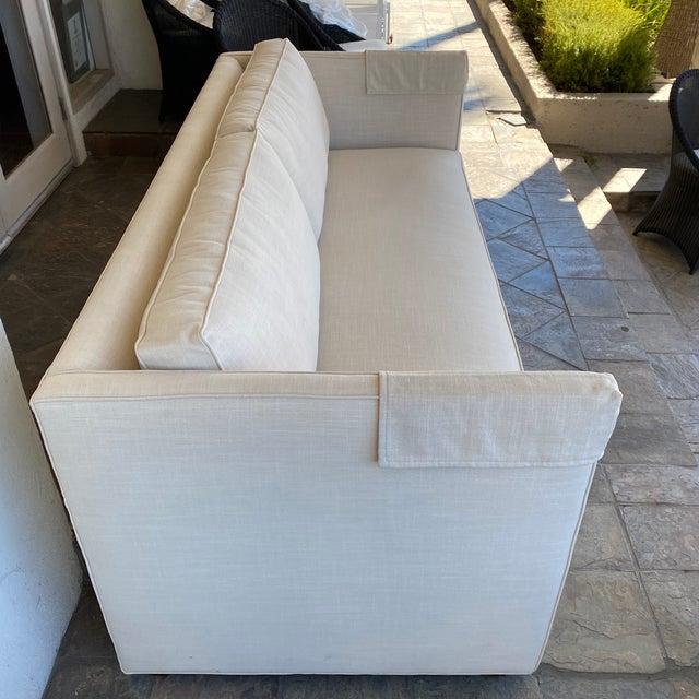New Miles Talbott Custom Landry Sofa + White Crypton Upholstery For Sale In San Francisco - Image 6 of 9