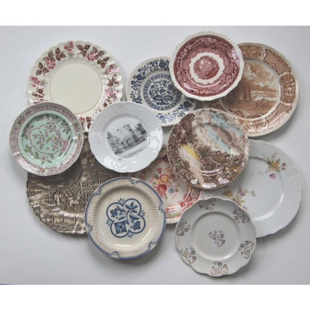 Mismatched Transfer Ware Plates - Set of 12 - Image 5 of 5