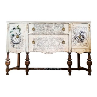 1900s Jacobean Madame Bovary Buffet/Sideboard For Sale