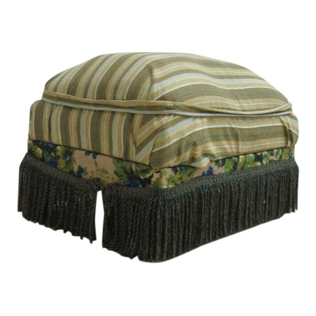 Antique Storage Footstool Ottoman For Sale