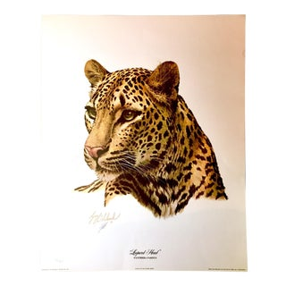"Guy Coheleach 1973 ""Leopard Head""Lithograph"