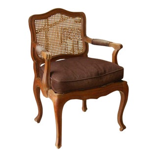 19th C. French Beechnut Fauteuil For Sale
