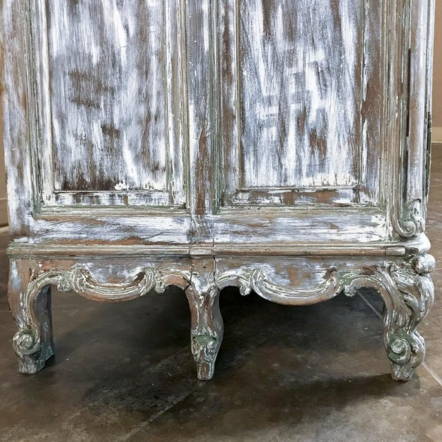 White 19th Century French Regence Whitewashed Commode For Sale - Image 8 of 13