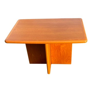 Danish Modern Ansager Mobler Teak Side Table For Sale