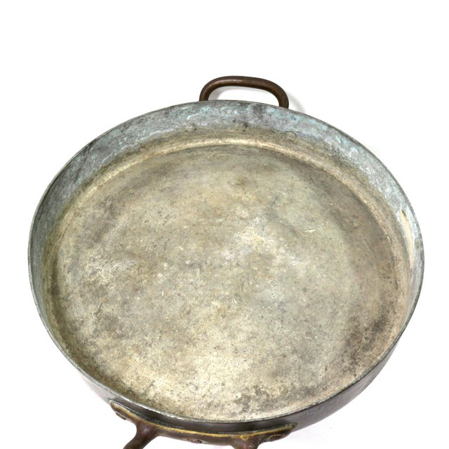 Antique 1880s Huge Copper & Tin Cooking Pan - Image 6 of 6