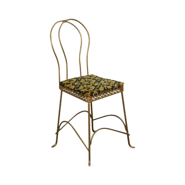 Antique Gilt Metal Faux Bois Aesthetic Side Chair For Sale - Image 11 of 11