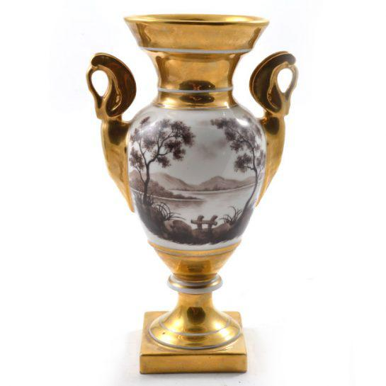 Ceramic 19th Century Antique French Porcelain Vases-a Pair For Sale - Image 7 of 13