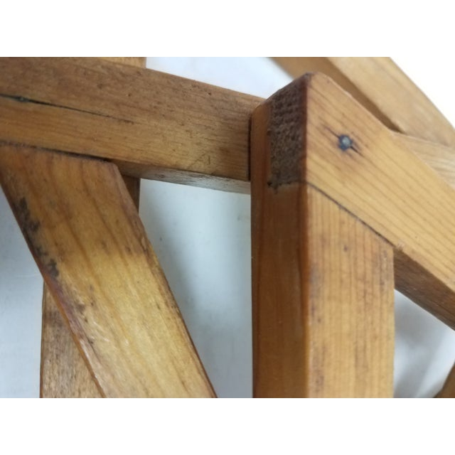 Wood Antique English Wooden Triangular Trivets For Sale - Image 7 of 8