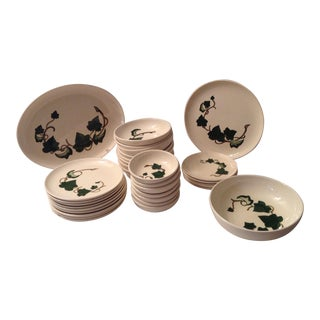 33 Piece Set - California Ivy by Metlox - Poppytrail - Vernon For Sale