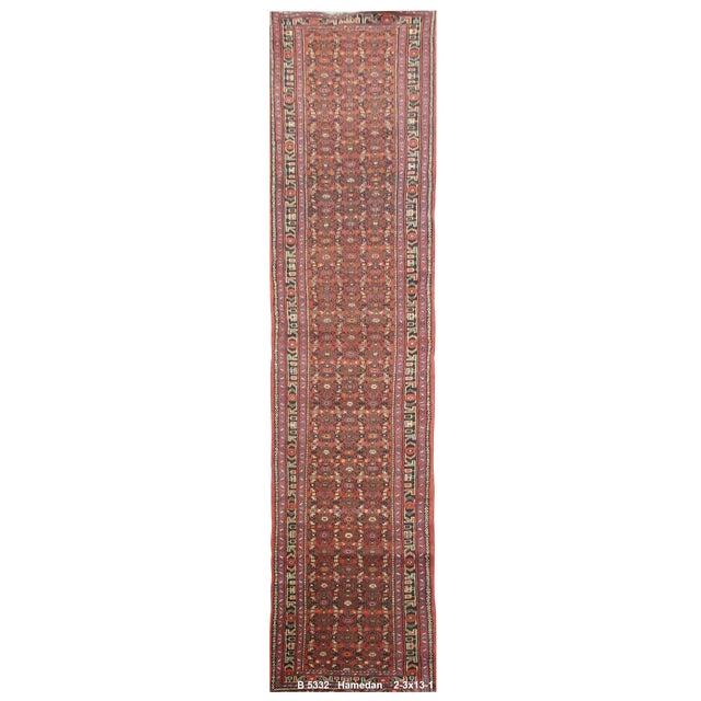 Vintage Persian Hamedan Rug - 2'3'' x 13'1'' For Sale