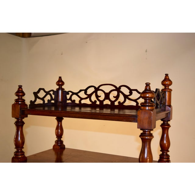 19th C English Mahogany Etagere For Sale In Greensboro - Image 6 of 8
