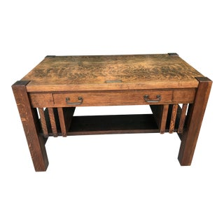 Antique L. & j.g. Stickley Mission Oak Desk